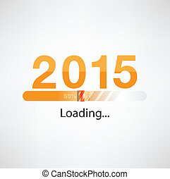 New year 2015 loading background,happy new year...