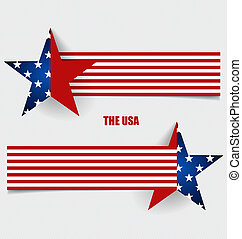 American Flag, Flags concept design Vector illustration