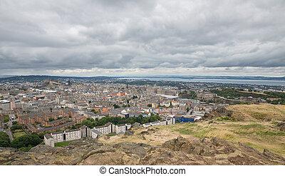 largo,  Skyline, vista, Edimburgo