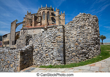Church of Castro Urdiales, Cantabria, Spain. - Wide angle...