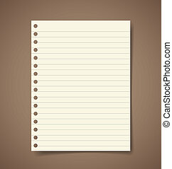 Note paper. Vector illustration.