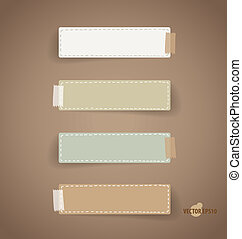 Vintage paper designs (note paper). Vector illustration.