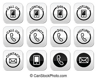 Contact, hotline, 24h help buttons