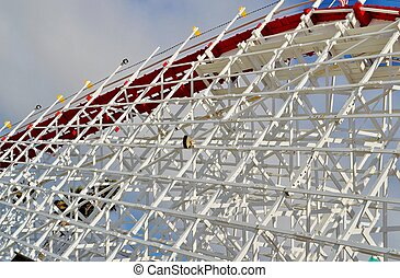 Roller Coaster - Wooden roller coaster in Santa Cruz