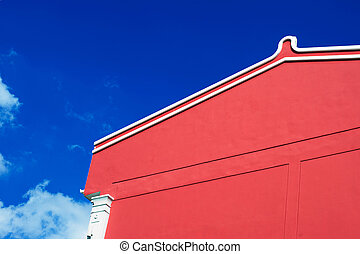 Red Building blue sky