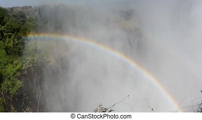 rainbow - Victoria falls en to the border of the Zimbabwe
