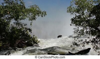 Victoria falls en to the border of the Zimbabwe