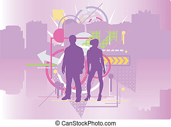 City and people - Software Used: Adobe Illustrator CS2...