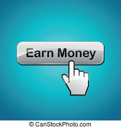 Vector earn money illustration - Vector illustration of earn...