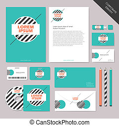 vector abstract corporate identity set graphic design