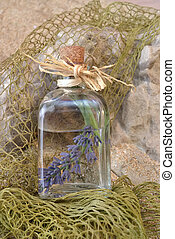 Lavender in glass jar