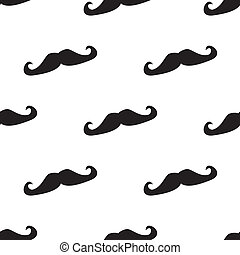 Tile vector mustache pattern - Seamless vector pattern,...