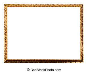 gilded frame, isolated over white