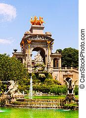 Cascada fountain in Barcelona in summer day. Catalonia