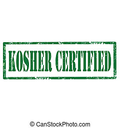 Kosher Certified-stamp - Grunge rubber stamp with text...