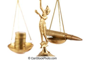 War versus money on the pan scales