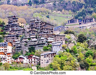 City at mountains. Andorra la Vella - City at mountains....