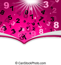 Mathematics Numbers Indicates Empty Space And Book