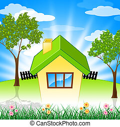 Summer House Shows Property Home And Houses
