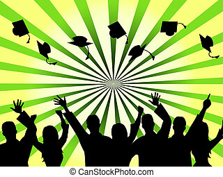 Graduation Education Means Studying Ceremony And Mast