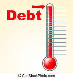 Thermometer Credit Indicates Debit Card And Banking - Credit...