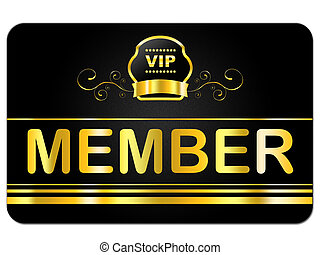 Membership Card Indicates Very Important Person And...