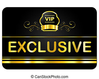 Membership Card Means Very Important Person And Exclusive -...