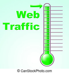 Web Traffic Shows Fahrenheit Thermometer And Celsius