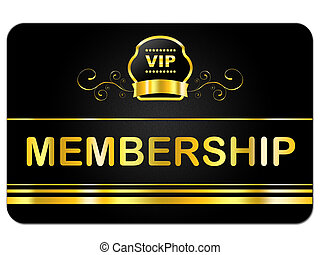 Membership Card Shows Very Important Person And Application...