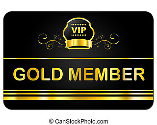 Gold Member Shows Very Important Person And Card - First...