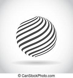 virvla runt, glob, abstrakt,  Symbol, klot