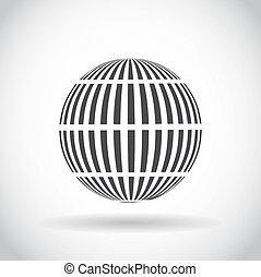 tourbillon,  sphère, résumé, Symbole,  Globe