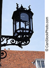 Old lantern in Magdalene college