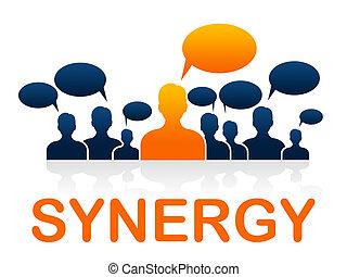 sinergia, trabajo en equipo, exposiciones, trabajando,...