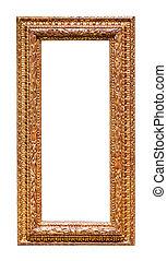 gilded frame. Isolated over white