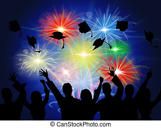 Fireworks Education Shows New Grad And Achievement -...