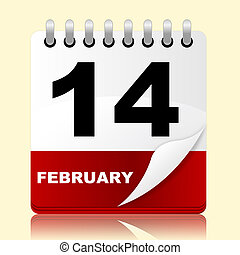 Love Calendar Means Valentines Day And 14Th - Calendar...