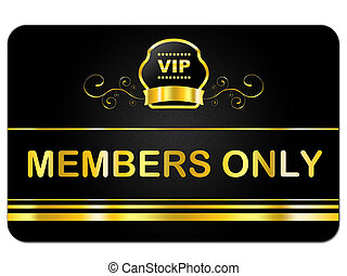 Membership Card Shows Very Important Person And Celebrity -...