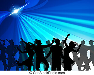 Dancing Party Indicates Cheerful Nightclub And Celebrate -...