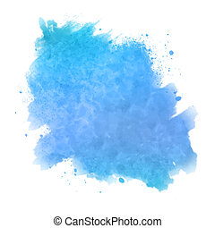 Abstract watercolor spot painted background - Vector...
