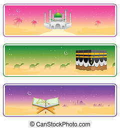 Eid Mubarak Happy Eid banner - easy to edit vector...