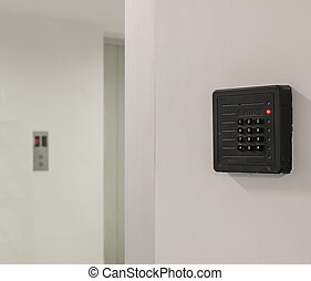 Door access control keypad with keycard reader