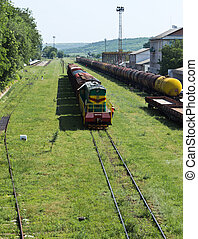 Freight trains - Freight train with cargo containers