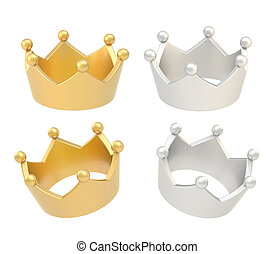 四, 王冠,  renders, 被隔离