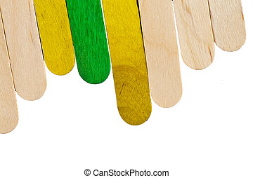 colorful wood ice lolly sticks, Ice cream sticks