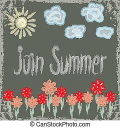Summer background for design