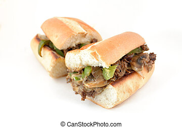 Philly Cheese Steak - Messy philly cheese steak with...