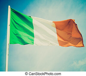 Retro look Irish flag - Vintage retro looking Irish flag...