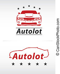 car lot logo in black and red