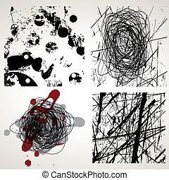 Set of grunge vector textures